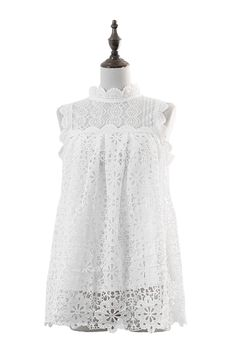 Retro Cute Cut-Out Lace Embroidery Top : The Art of Vintage-inspired & Cute Women's Clothing | Larmoni