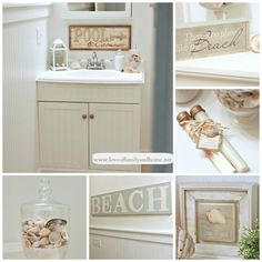 Very pretty beach bathroom decor :) - Craft ~ Your ~ Home