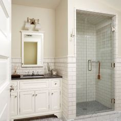 Traditional Bathroom Black Granite Countertop On White Cabinet Design, Pictures, Remodel, Decor and Ideas - page 5