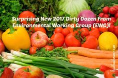 Surprising New 2017 Dirty Dozen from Environmental Working Group (EWG)! post image