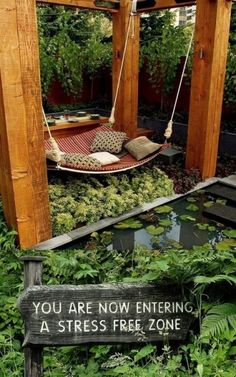 Every considered creating an in-home meditation room? Or even a meditation corner? Top yoga instructors, interior designers, and other experts share the secrets to creating inspiring and relaxing meditation spaces. Meditation Garden, Meditation Space, Meditation Corner, Meditation Retreat, Dream Garden, Home And Garden, Spring Garden, Deco Zen, Outdoor Living