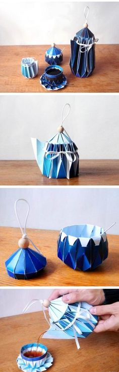 """Yuya Ushida, the Japanese industrial designer paper and biodegradable cotton balls and other materials, this tea is not only beautiful, elegant, and really can be used to make tea, drinking water, is really nice and easy to use the """"artifact"""".  ~  Found on an Asian """"Pinterest-styled"""" website.  For looks only it does not show the directions."""