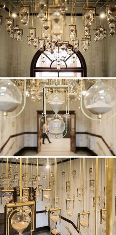Suspended Hourglasses Visualize the Complexity of Time in 'Yesterday, Today, Tomorrow' Colossal Art, Yesterday And Today, Soft Furnishings, Installation Art, Art Boards, Camper, Mirror, Cool Stuff, Design