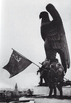 Soviet Flag over the Reichstag Berlin, 1945. Pin by Paolo Marzioli