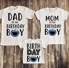 Cookie monster birthday shirt, cookie monster birthday party, cookie monster theme, cookie monster family shirts, baby boy party by JADEandPAIIGE on Etsy https://www.etsy.com/listing/608994883/cookie-monster-birthday-shirt-cookie
