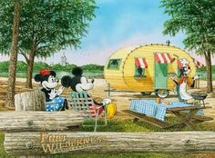 Mickey and Minnie go camping with Goofy