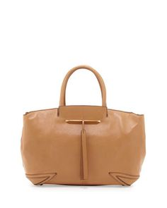 Grace East/West Leather Tote Bag, Camel by B Brian Atwood at Neiman Marcus.