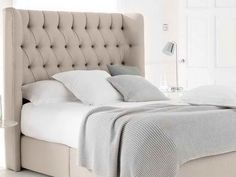 How to Make a Padded Headboard And Comfortable: Padded Headboard With Decorative Lighting ~ gozetta.com Furniture Inspiration