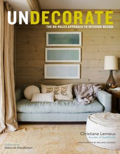 "Undecorate by Christiane Lemieux  "" If you'd like a breath of fresh air, and a finger on the pulse of how people decorate now, and will continue to do so for many years to come, get this book. """