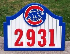CHICAGO CUBS  Address Sign Custom Made for Home Apartment by duranduran2946 | Etsy