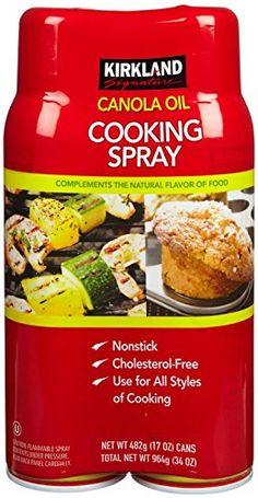 Kirkland Signature Canola Oil Cooking Spray, 34 Ounce -- SUPERB BEST OFFER! : Baking supplies