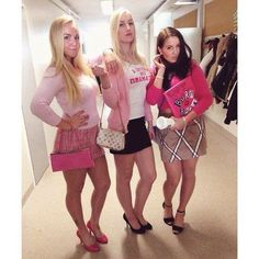 Mean Girls Halloween Costumes, Trio Costumes, Mean Girls Costume, Trendy Halloween, Halloween Outfits, Powerpuff Girls Costume, Group Of 3 Costumes, Cute Girl Costumes, Dynamic Duo Costumes
