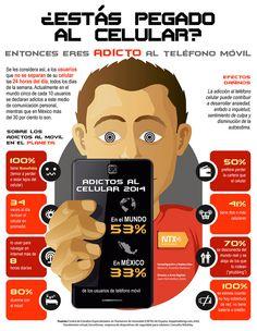 Adictos al celular en México y el mundo