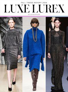 Top 12 Trends from Fall 2016 Runway | LUREX: Jil Sander; Balenciaga; Vionnet @stylecaster