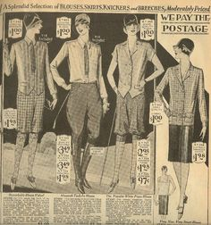 1929 Women's androgynous Fashions |  1929 |
