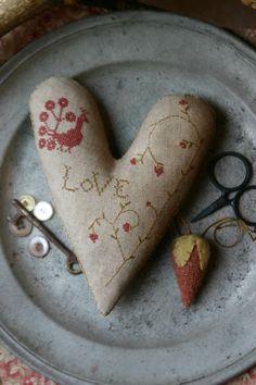 Love; cross stitch