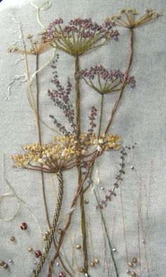 'Queen Anne's Lace' - Glorious embroidery!