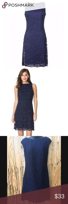 Women's Chaps Lace Shift Dress Navy PRODUCT FEATURES Lace design Scalloped hem Crewneck Sleeveless Lined FIT & SIZING 37 1/2-in. approximate length from shoulder to hem Shift styling FABRIC & CARE Nylon, viscose, cotton Hand wash Imported Chaps Dresses Midi