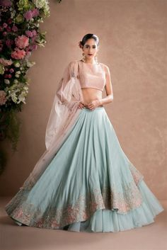 Latest Collection of Lehenga Choli Designs in the gallery. Lehenga Designs from India's Top Online Shopping Sites. Lehenga Designs, Choli Designs, Indian Lehenga, Red Lehenga, Lehenga Choli, Sharara, Anarkali, Lehenga Style, Indian Designer Outfits