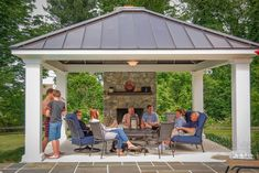 Backyard pavilion ideas pavilion design for family fun in outdoor pavilion wedding ideas Backyard Pavilion, Outdoor Pavilion, Backyard Gazebo, Backyard Patio Designs, Outdoor Pergola, Pergola Designs, Backyard Landscaping, Backyard Ideas, Patio Ideas