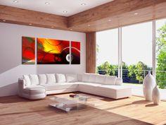 Ravivez votre intérieur avec ce tableau abstrait triptyque du site www.artwall-and-co.com