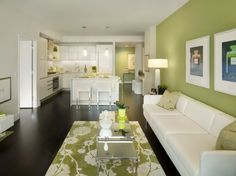 15 Contemporary Grey And Green Living Room Designs | Green Accent Walls,  Green Accents And Walls