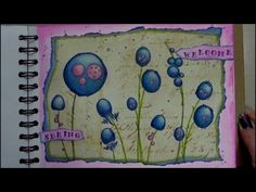 (21) Mixed Media Art Journal Page - Welcome Spring - YouTube