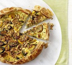 This rustic quiche has been simplified by making it straight on the baking tray without using a tart tin