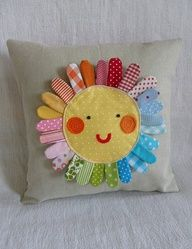 love this cute sunshine pillow. Even my kiddos could make this with help