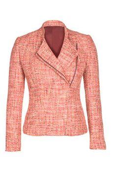 A Coral Tweed Biker Jacket? Yes, please!