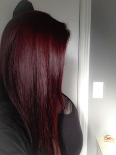 My new hair color ! # My new hair color ! # - Unique World Of Hairs Hair Color And Cut, Hair Color Dark, Color Red, Burgundy Colour, Dark Red Haircolor, Wine Red Hair Color, Dark Red Balayage, Red Wine, Color Shades