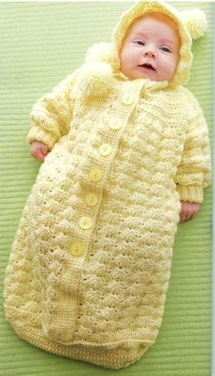 Baby Yellow Bunting Crochet--- TOO CUTE! Can you picture this in hot pink and black?