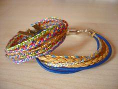 Flechtarmbänder für den Sommer - Handmade Kultur