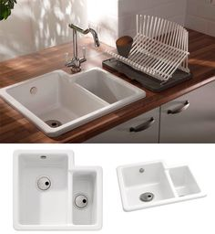 Lansdowne Oakwood 1.5 bowl sink left hand drainer with one tap hole ...