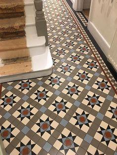 Victorian Hallway Tiles - Mosaic floor tiles - Specialist in Victorian floor tiles Victorian Hallway Tiles, Victorian Mosaic Tile, Tiled Hallway, Victorian Flooring, Victorian Kitchen, Ceramic Floor Tiles, Mosaic Tiles, Tiling, Mosaic Floors