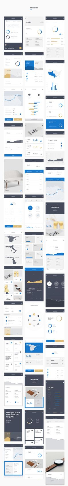 Thunder UI Kit is the successor of our all time best selling Bolt UI Kit. As you come to expect, you get a highly polished, consistent, organized and retina-ready set of premium components to build your next mobile app. Web Design Trends, Graphisches Design, Web Ui Design, Dashboard Design, Flat Design, Ui Kit, Software, Mobile Web Design, Apps