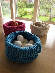 Knit-O-Matic Blog: Knitted Baskets