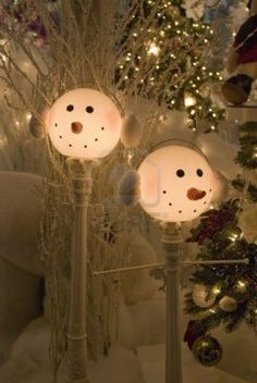 Snowman Lamp Post Cover On Pinterest Snowman Lamps And