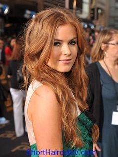Isla Fisher rust brown hair