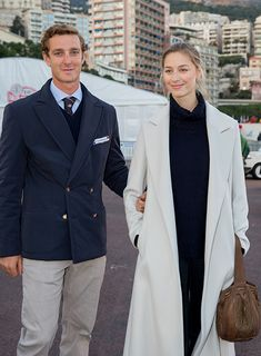 Jan 2014.   Pierre Casiraghi and Beatrice Borromeo look loved-up at Monte Carlo rally - Photo 2 | Celebrity news in hellomagazine.com