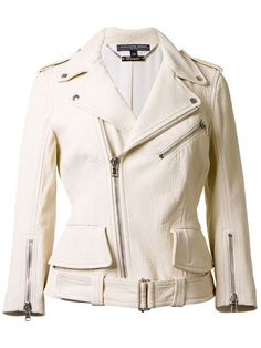 Shop Alexander McQueen zipped biker jacket in  from the world's best independent boutiques at farfetch.com. Shop 300 boutiques at one address.