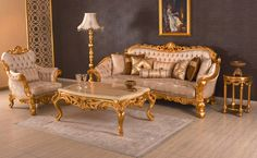 Kral classic sofa set reel wood handmade golden leaf with different size and fabric options. Furniture, Luxury Living Room, Classic Sofa Sets, Sofa Design, Classic Sofa, Classic Sofa Living Room, Classic Furniture, Sofa Set, Luxury Sofa