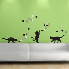 Decorazione Adesiva Gatti 3D