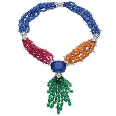 Bulgari Elizabeth Taylor Sapphire necklace. The central sapphire is 165 carats.