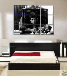 large al pacino scarface wall art poster