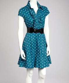 Coral Belted Dress - Belted Dress- Coral and Dresses