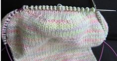 No Sock Holes For You - knitting trick to avoid hole when you knit the heel