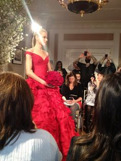 Amazing red bridal gown from Romona Keveza!