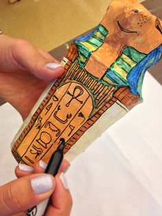 My Egyptian Canopic jar lesson Ancient Egypt Lessons, Ancient Egypt Art, Egyptian Crafts, Egyptian Party, Canopic Jars, Ancient World History, Art History Lessons, Sculpture Lessons, Arts Integration