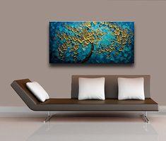 Original moderne abstrakte Heavy texturiert Spachtel Gemälde von Lana Guise. Galerie gewickelt Leinwand bereit zum Aufhängen Maßgeschneiderten Gemälde von einem zuvor verkauft. Das Gemälde wird neu erstellt werden, ähnlich dem, was Sie hier sehen, die ca. 10 Tage dauern wird, dann ist es